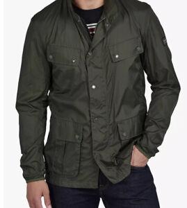 Barbour International Duke Packable Coat Motorcycle Jacket Size XL
