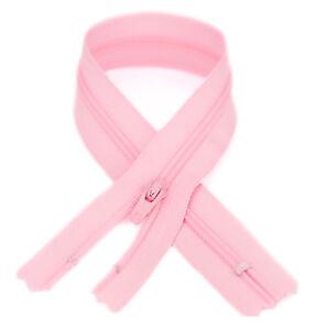YKK #3 Coil Zipper, 7 inch length, Pink 513 (10 Pack)