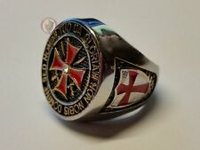 Templar Knights Signet Ring - Stainless steel Size 12 - (X? - 67.2mm)