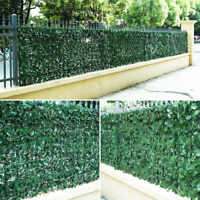 *+Artificial Faux Ivy Hedge Privacy Fence Wall Screen, Leaf and Vine Decoration