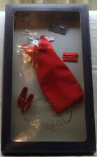 FRANKLIN MINT PRINCESS DIANA HIGH FASHION RED DRESS ENSEMBLE NIB WITH COA