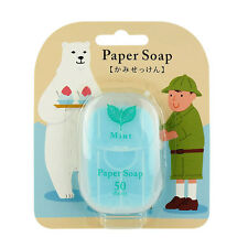 [CHARLEY SOAP] Mint Scented Travel Size Pocket Paper Soap 50 Sheets NEW