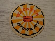 Vintage Beer COASTER ~ Watney's Brown Ale ~*~ Formerly Sleeman Brewing & Malting