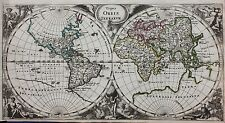 Original antique WORLD MAP, 'TYPUS ORBIS TERRARUM', Philipp Cluver, c.1697
