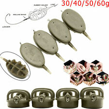 High Quality 4 Inline Method Feeders + Rubber Mould 30g-60g Carp Fishing Tackle