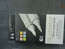 Spectrum noir Illustrator 6 Twin-tip Artist's Markers - Tints