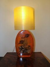 GRANDE Vintage Con Granchio In Resina Lucite Lampada incredibile filato vetroresina Shade