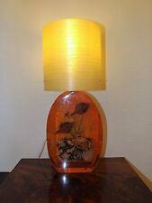 Large Vintage Retro Crab In Resin Lucite Lamp Amazing Spun Fiberglass Shade