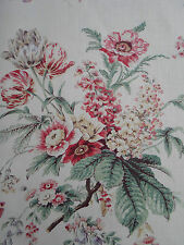 Sanderson Curtain Fabric ~ 'Tournier' Strawberry/Cream 3.6 METRES 100% Linen