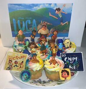 Disney Luca Cake Toppers Set of 14 With 10 Figures Fun!