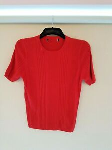 BRAND NEW M&S WOMEN'S RED CABLE TOP. SIZE 14. RRP £19.00 IDEAL XMAS GIFT