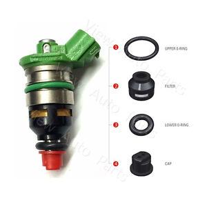 6 For 1992-1995 Mazda 929 3.0L V6 Denso FJ336 Fuel Injector Repair Seal Kit
