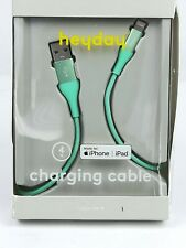 iPhone iPad Charging Cable Fashion Green 4 Foot. Lightning to usb