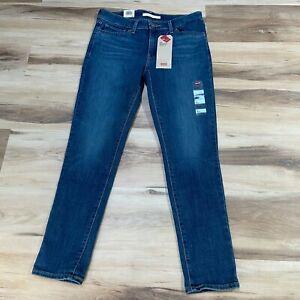 Levis 711 Skinny Sculpt Blue Jeans Denim Size 8  29 x 27 Dark Wash