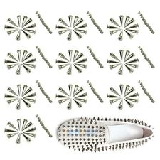 100x 26mm Silver Spots Cone Screw Metal Studs Leather Craft Rivet Bullet Spikes