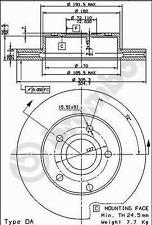 Bremsscheibe (2 Stück) COATED DISC LINE - Brembo 09.8852.11