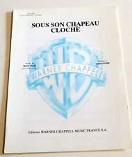 Partition sheet music BORIS VIAN : Sous Son Chapeau Cloche * 50's EX