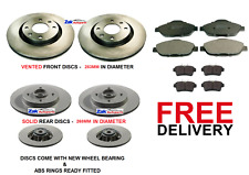 FOR Peugeot 3008 1.6 HDI VTI THP 2009-2013 Front & Rear Brake discs & Pads Set