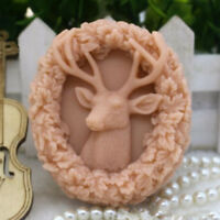 Oval Deer Silicone Soap Mold Soap Making Mold Handmade Candle Wax Resin Mould