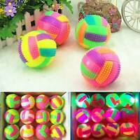 Volleyball LED Flashing Light Up Color Changing Bouncing Hedgehog Ball Kids Toy