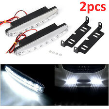 2PCS Universal 12V 8 LED Daytime Running Lights DRL Car Fog Day Driving Lamp UK