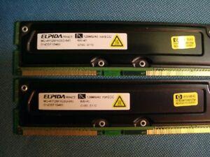 Elpidia 256MB 128MB x 2 PC800-45 RDRAM RAMBUS Non ECC