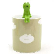DECOLE Japan FROG & Cloud Ceramic Tea Coffee Juice Mug Cup with Spoon Set NEW