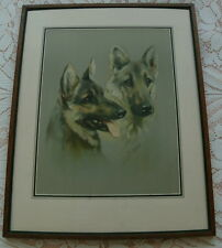 LARGE MABEL GEAR GERMAN SHEPHERD DOG ALSATIAN WOLFHOUND FRAMED DOG PRINT