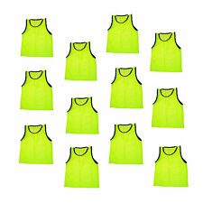 12 Scrimmage Vests Pinnies Soccer Adult Yellow ~ New!