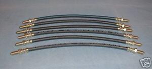 Maserati Biturbo  FLEXIBLE BRAKE LINE HOSE *New* 6 pieces  317420129