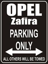 Parkplatzschild 32x24 cm schwarz - Opel zafira