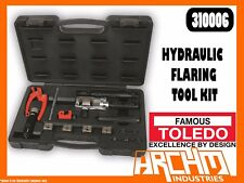 TOLEDO 310006 - HYDRAULIC PIPE FLARING TOOL KIT -  COPPER BRASS ALUMINIUM STEEL