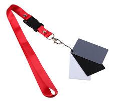 Digital Grey Card White Black 18% Gray Color Balance Strap For SLR Camera IL