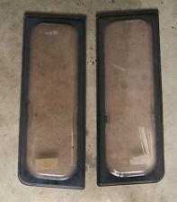 Caravan pair front outer windows Mardon Mysteque W= 31.5 x D= 87cms Roxite 80