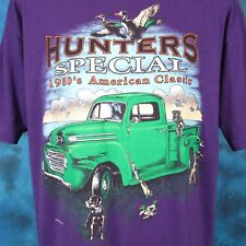 vtg 90s HUNTERS SPECIAL PICKUP TRUCK PAPER THIN T-Shirt L/XL dog duck hunting