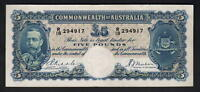 Australia R-44b. (1933)  Five Pounds - Riddle/Sheehan.. KGV Portrait.. aVF