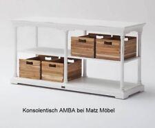 AMBA, Konsolentisch weiß vintage Landhausmöbel, Wandtisch weiß von Matz Möbel
