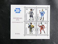 TIMBRES DE SUISSE : BLOC FEUILLET EXPOSITION INTERNABA 1974 - Oblitéré 1er JOUR
