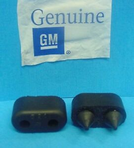 Qty 2 Genuine GM 1967-1990 Chevy Rubber Front Door Bumpers Stops Jamb  NOS