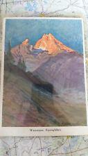 Watzmann Alpenglühen AK Postkarte 1253