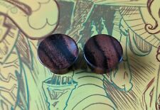 Tunnels Double Flare #1 Great Gift 🌟�🌟 00g Wooden Plugs 10mm Gauges Sono Wood