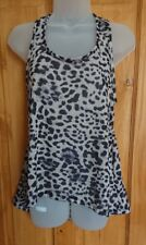 Women ladies girls leopard print racer back top. MEDIUM