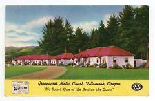 Greenacres Motor Court, Tillamook, Oregon BEST WESTERN MOTELS (1930-1945)