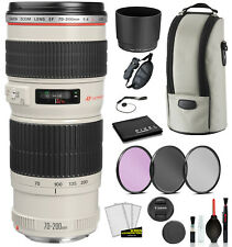 Canon EF 70-200mm f/4L USM Lens (2578A002) with Bundle Package Deal Kit for