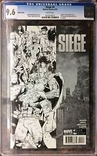 Siege #4 Black & White Sketch CGC 9.6 Thor Captain America Spider-man Iron Man
