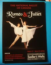 ROMEO & JULIET BALLET - A5 FLYER - NATIONAL BALLET OF CANADA - Apr 2012 Sadler's