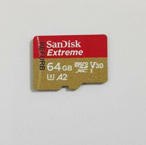 SanDisk 64GB Extreme microSDXC microSD Card U3 V30 A2 160MB/s 60MB/s
