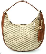 Michael Kors Lauryn Signature Monogram Hobo Handbag Beige Coated Canvas RRP £360