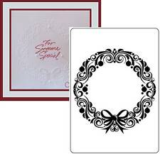 CHRISTMAS WREATH Embossing Folders - Crafts Too embossing folder CTFD4016