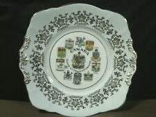 "Vtg.Paragon Fine Bone China England Hand Painted""Canada-Coats of Arms""Cake Plate"